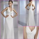 Free Shipping/2011 New arrival/A-line/Sleeveless/Chiffon/Floor Length/Wedding Dress/A1096