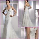 Free Shipping/2011 New arrival/Mermaid/Strapless/Satin&Lace/Floor Length/Wedding Dress/A1098