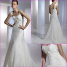 Free Shipping/2011 New arrival/Mermaid/Sleeveless/Satin&Mesh/Floor Length/Wedding Dress/A1099