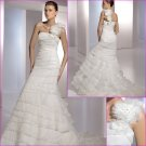 Free Shipping/2011 New arrival/Mermaid/One-Shoulder/Satin&Organza/Floor Length/Wedding Dress/A1101