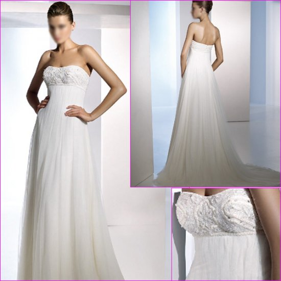 Free Shipping/2011 New arrival/A-line/Sweatheart/Satin&Mesh/Chapel train/Wedding Dress/A1106