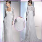 Free Shipping/2011 New arrival/A-line/Sweatheart/Chiffon&Lace/Chapel train/Wedding Dress/A1114