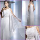 Free Shipping/2011 New arrival/A-line/One-shoulder/Chiffon/Chapel train/Wedding Dress/A1115