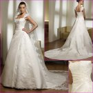 Free Shipping/2011 New arrival/A-line/Sleeveless/Satin/Chapel train/Wedding Dress/A1139