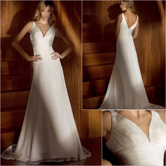 Free Shipping/2011 New arrival/A-line/Sleeveless/Satin&Organza/Chapel train/Wedding Dress/A1140