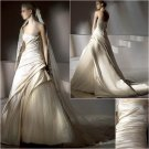 Free Shipping/2011 New arrival/A-line/Strapless/Satin&Mesh/Chapel train/Wedding Dress/A1145