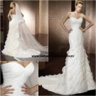 Sheath Organza Chapel train Sweetheart Bridal Gown A1162