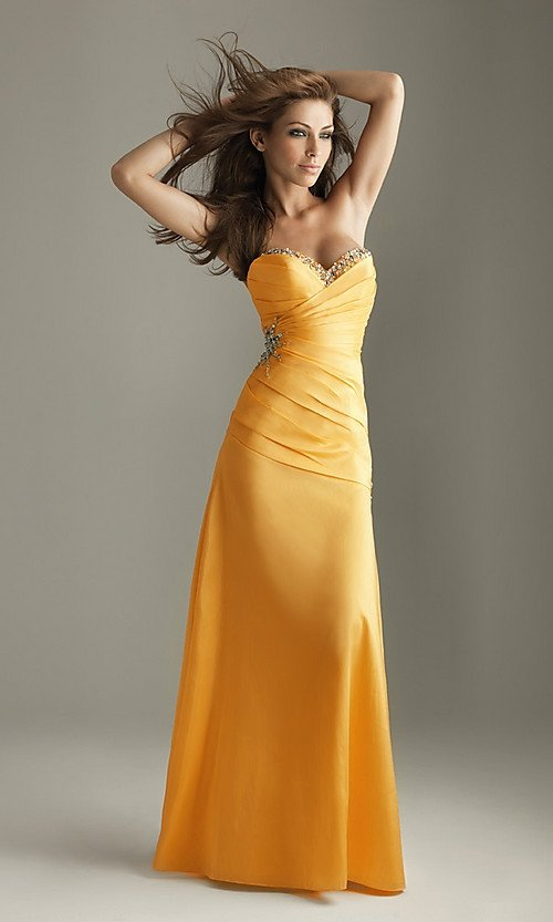 Sheath Style Satin with Beadings Sweetheart  Prom Dress PM19