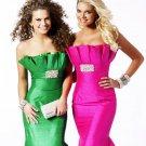 Tffeta Mermaid Strapless Prom Dress PE003