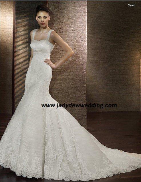 Free Shipping luxurious Memaid Spaghetti Strap Bridal Wedding Dress A1194