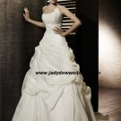 Free Shipping/2011 New arrival/A-line/Strapless/Satin&Organza/Chapel train/Wedding Dress/A1191