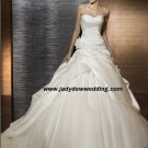 Free Shipping/2011 New arrival/A-line/Strapless/Satin&Mesh/Chapel train/Wedding Dress/A1188