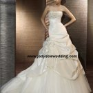 Free Shipping/2011 New arrival/A-line/Strapless/Satin&Mesh/Chapel train/Wedding Dress/A1187