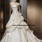 Free Shipping/2011 New arrival/A-line/Strapless/Satin/Chapel train/Wedding Dress/A1185