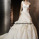 Free Shipping/2011 New arrival/A-line/One-Shoulder/Satin/Chapel train/Wedding Dress/A1184