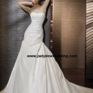Free Shipping/2011 New arrival/A-line/Strapless/Taffeta/Chapel train/Wedding Dress/A1181