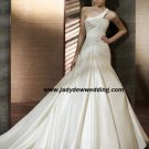 Free Shipping/2011 New arrival/A-line/One-Shoulder/Taffeta/Chapel train/Wedding Dress/A1179