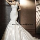 Free Shipping/2011 New arrival/Mermaid/One-Shoulder/Taffeta/Chapel  train/Wedding Dress/A1176