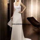 Free Shipping/2011 New arrival/A-line/Sleeveless/Satin&Chiffon/Chapel  train/Wedding Dress/A1170