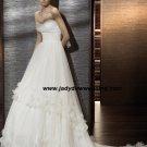 Empire waist Petals skirt Chapel train Strapless Wedding Gown A1169