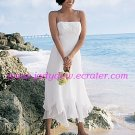 Free Shipping!!Terse/Spaghetti Strap/Tea Length/Bridal Gown/AA113