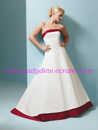 Hot Selling/Sleeveless/Satin/with Ribbon/A-Line/Princess/Floor Length/Bridal Gown/AA102