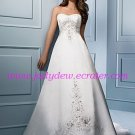 Graceful/Strapless/A-Line/Princess/Floor Length/Satin&Mesh/Wedding Dress/AA068