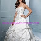 Gorgeous/Sweetheart Neckline/Strapless/Taffeta/A-Line/Princess/Floor Length/Wedding Dress/AA064