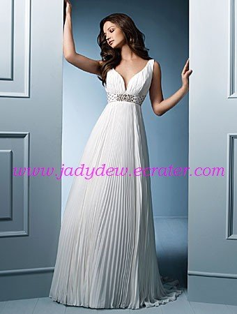 Beautiful/Sweetheart Neckline/Crepe&Satin/A-Line/Princess/Floor Length/Bridal Gown/AA063