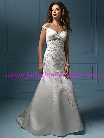 Endearing/Sweetheart  Neckline/A-Line/Princess/Floor-Length/Satin/Wedding Dress/AA059