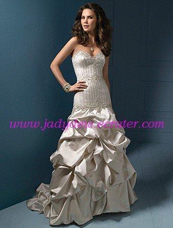 Charming/Sweetheart  Neckline/Mermaid/Taffeta/Floor Length/Wedding Dress/AA056