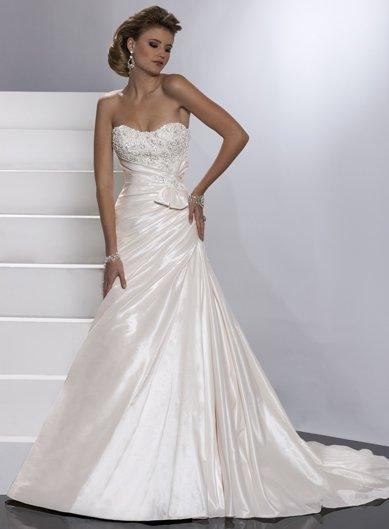 Free Shipping/Sheath/Sweatheart/Taffeta/Chapel train/Bridal Wedding Dress/GG023