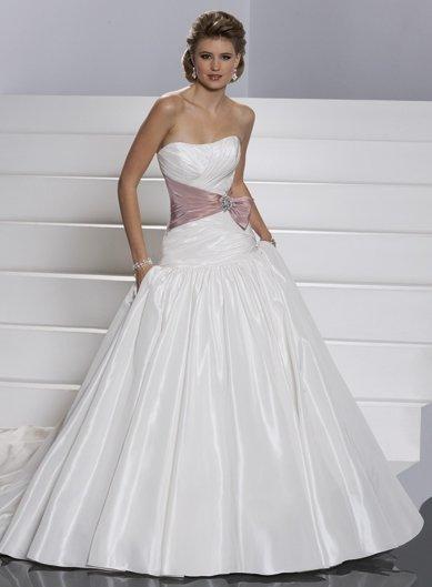 A-line/Sweatheart/Taffeta/Chapel train/Sexy Bridal Wedding Dress/GG030