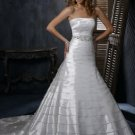Free Shipping/Taffeta with Crystal Beadings A-line Strapless WEDDING GOWN GG108