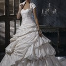 Free Shipping/A-line/Sweatheart/Taffeta/Chapel train/Bridal Wedding Dress/GG111