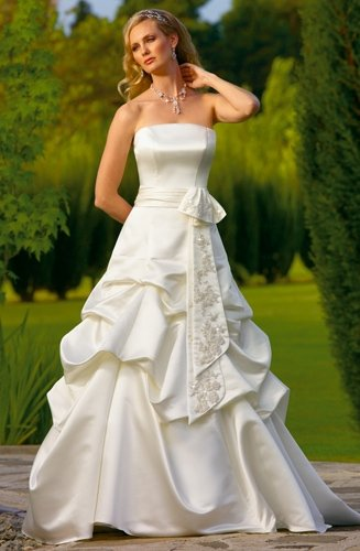 Free Shipping!!2010 New styles Strapless/A-Line/Wedding Dress YY001