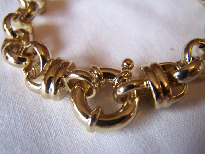 "HUGE Belcher Bracelet 10mm x 8"""