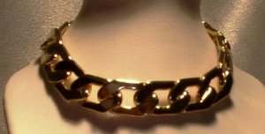 MENS OR WOMENS CHUNKY GOLD BRACELET 12MM