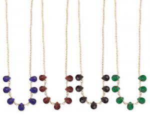 Teardrop Glass Bead Necklace Red