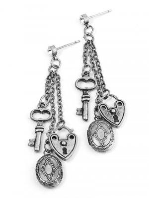 Silver Tone Chain Link Earrings