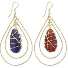 Wrapped Bead Earring Blue