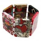 Heart Theme Stretch Bracelet