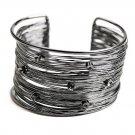 Hematitie Tone Wire Cuff Bracelet