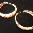 Cloth Covered Hoops with Cherry Pattern