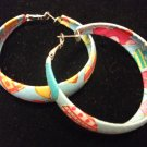 Cloth Covered Hoops with Heart Pattern