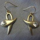 Bird Earrings with Rhinestone