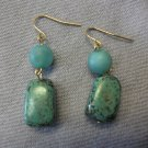 Turquoise Square Bead  Earring