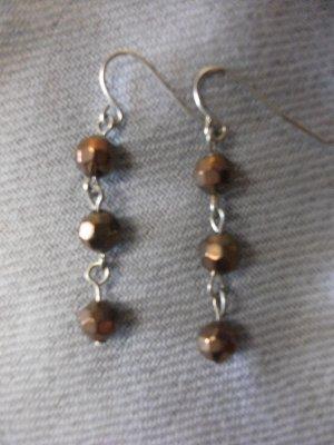 Small Bronze Bead Earrings