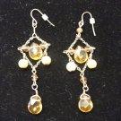 Gold Bead & Pearl Dangle Earring