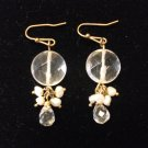 Small Round Bead Earrings Clear